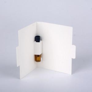 Image 3 - 100 ピース/ロット 1 ミリリットル 2 ミリリットルの香水瓶紙カード包装詰め替え香水瓶スポイトボトルブラウン香り試験管ボトル