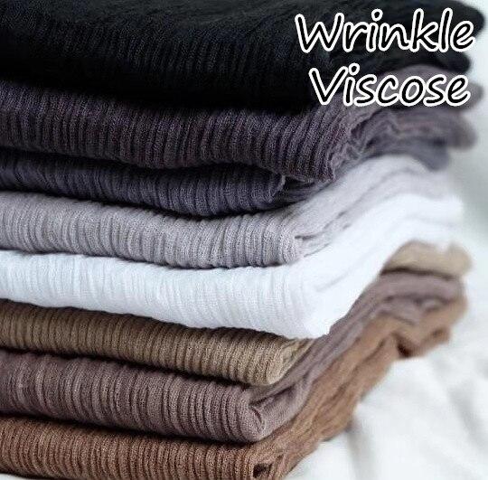 J9 High Quality Crinkle Viscose Cotton Hijab Wrap Shawls Women Scarf Scarves 180*90cm 10pcs/lot Can Choose Colors