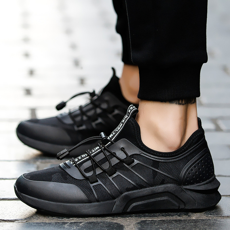 Men's Vulcanize Shoes Black Sneakers light Breathable Mens Trainers Summer New Lace-Up Human Race Walking Shoes Zapatos Hombre цена