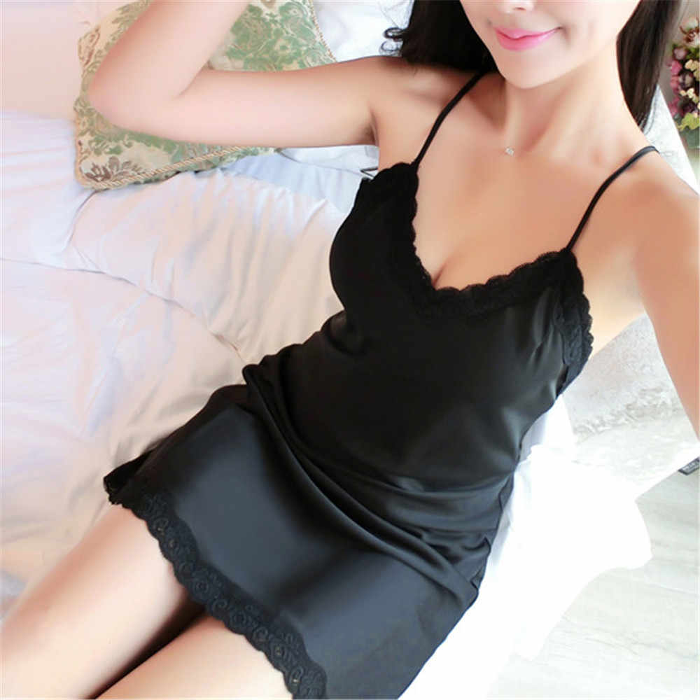 ce0579ca00 ... Women Ladie Sexy Lace Satin Sleepwear Babydoll Lingerie Silk Nightgowns  Nightwear Camisones Night Dress chemise de. RELATED PRODUCTS. Sexy Women  Ladies ...