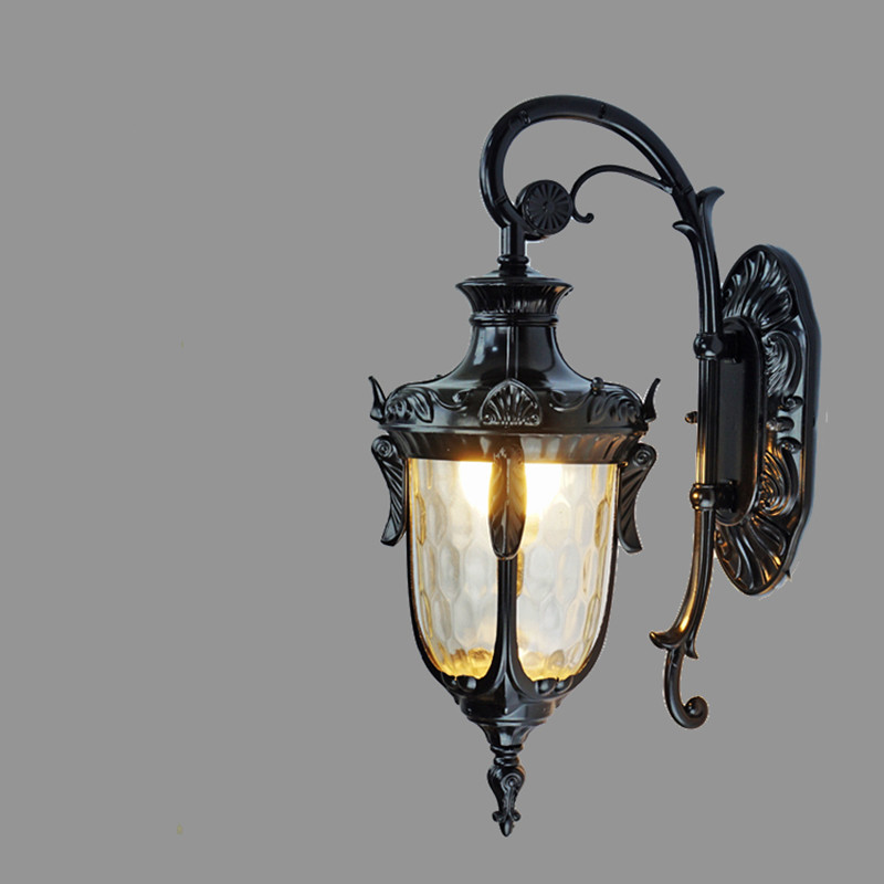 Retro European waterproof wall lamp E27 Home Restaurant corridor courtyard lamp Garden light indoor/outdoor lighting