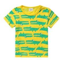 Fashion Children Cartoon dinosaur T shirt Boys Short Sleeve Casual style Tops T-shirt high quality Kids Tees free shipping