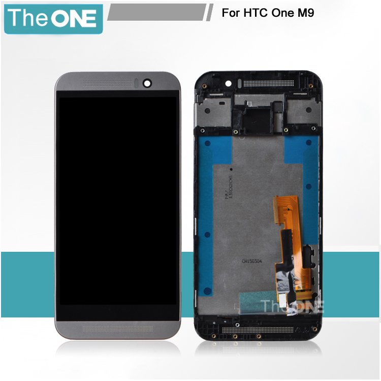 LCD Display + Touch Digitizer Screen Glass for HTC One M9 with Frame Black Silver Golden Color Free Shipping+Tracking Number