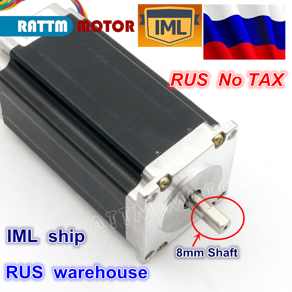 RU ship NEMA23 425Oz-in 112mm 12-24V/DC 280N.cm CNC Dual shaft stepper motor stepping motor 3A for CNC Rouer Milling Machine цена