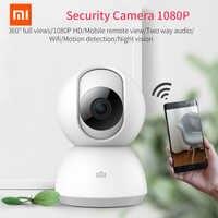 Versión actualizada Xiaomi Mijia Cámara inteligente Original 1080P HD 360 grados vídeo infrarrojo visión nocturna Voz bidireccional WIFI Smart Cam