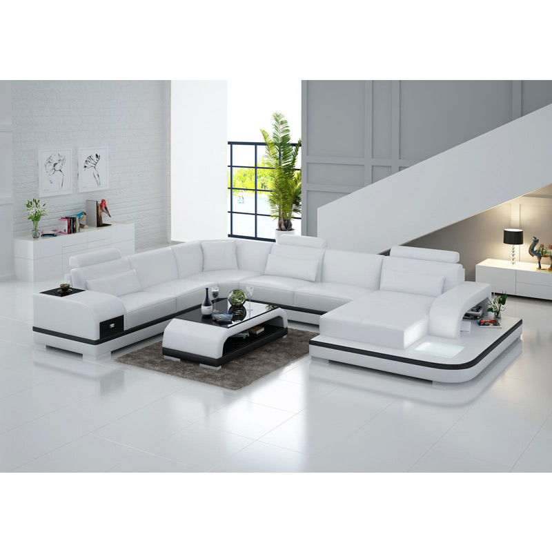 US $1531.0 |Wholesale living room furniture cheap leather corner sofa set 7  seater sectional-in Living Room Sofas from Furniture on AliExpress - ...