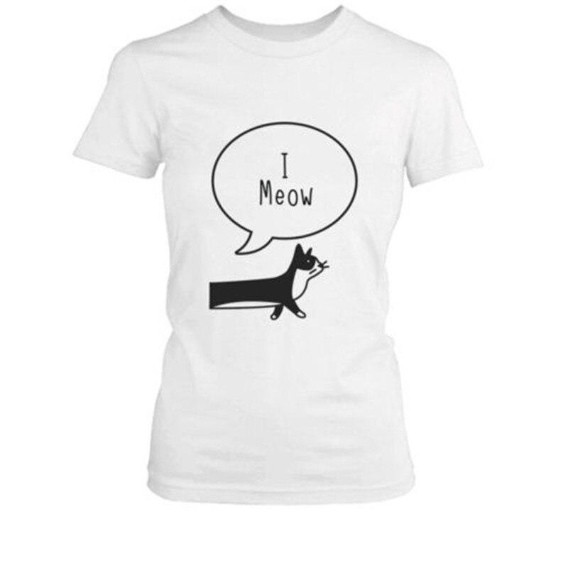 I Ruff You I Meow Funny Cat Dog Pun Matching Couple T Shirts