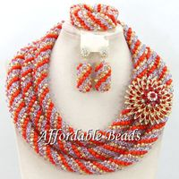 African Beads Wedding Jewelry Set Unique Bridal Jewelry Set Popular Style Wholesale Free Shipping BN499