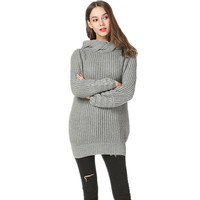 knitted long sweater pullover women clothes autumn winter jumper new arrival 2019 loose runway sweater plus size fashions ZJ039