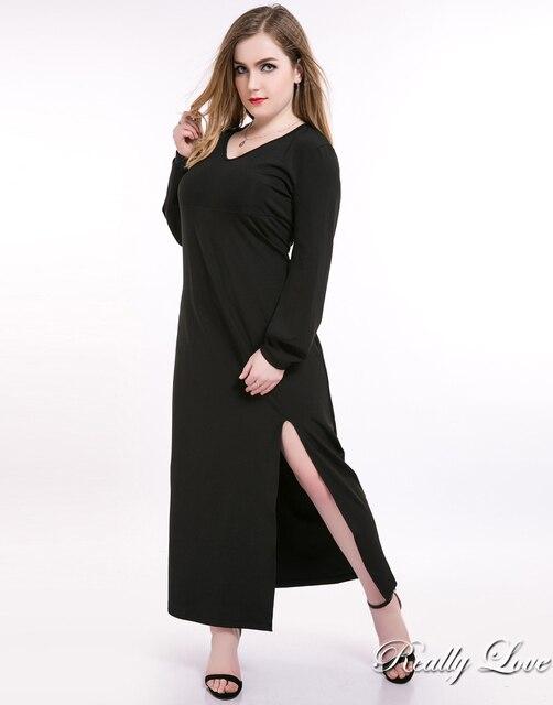 Nette Ann frauen Maxi Plus Size Cocktail Party Kleid Langarm Stretch ...