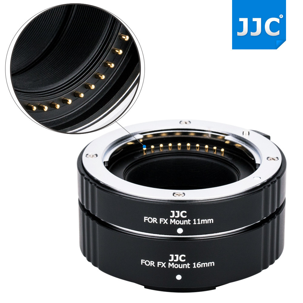 JJC Automatic Extension Tubes for Fujifilm X Mount Camera Lens Adapter Ring fd gfx adapter for canon fd mount lens to fujifilm gfx 50s medium format camera