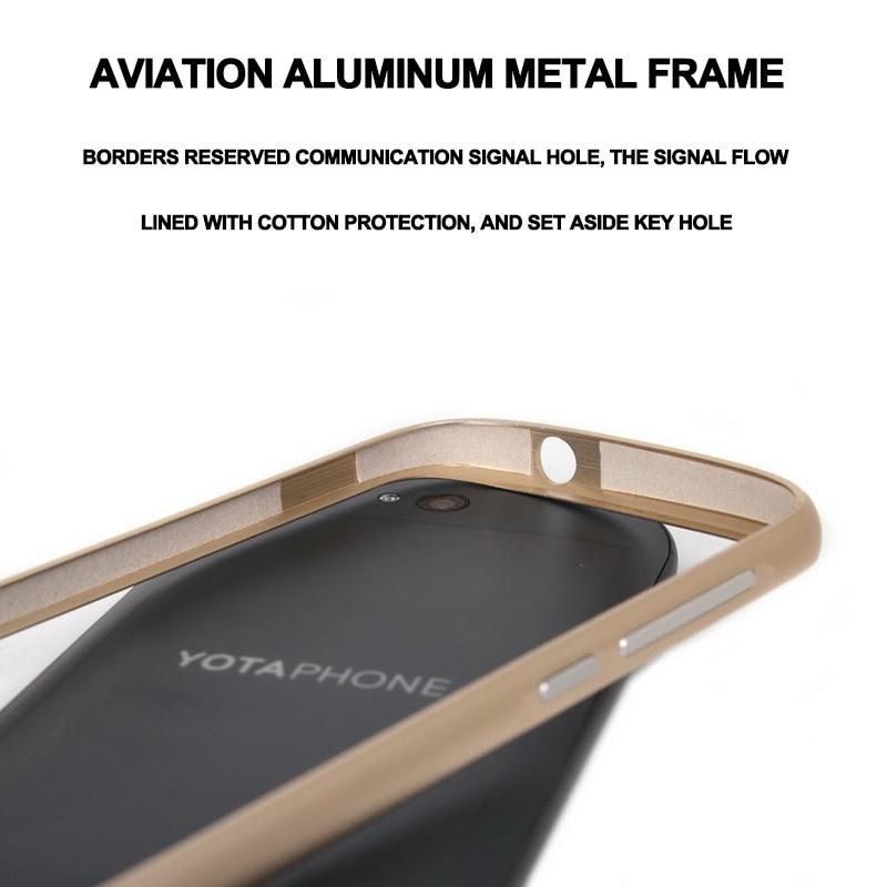 Nyt til Yota Phone 2 Taske Luksus Ultra tynd Metal Aluminium Frame - Mobiltelefon tilbehør og reparation dele - Foto 4