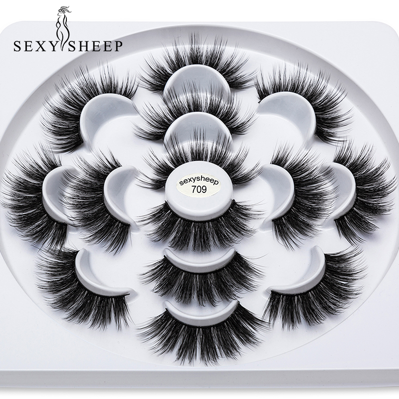 aa936c3e976 SEXYSHEEP 2/4/7pairs Faux 3D Mink Lashes Natural Long False Eyelashes  Volume Fake Lashes Makeup Extension Eyelashes maquiagem ~ Free Shipping  July 2019