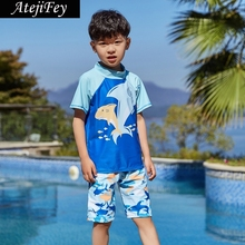 2019 Summer Boys Swimsuits Bathing Suit Two Pieces Separates Rash Guards Swimwear Baby Toddler Swimming Children