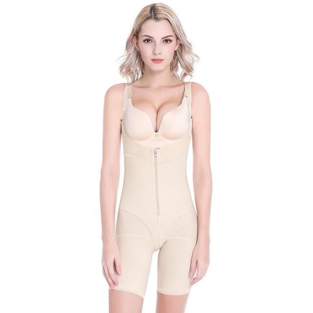 4844c500c959d Skin Color Butt Lifter Slim Shapewear Pants Sexy Waist Trainer Plus Size Body  Shapers Women Bodysuit Gaine Amincissante Ventre