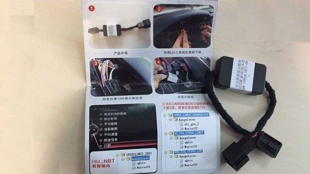 Para BMW F3/F5/F7/X5/x6 Série Limite de Velocidade Informações SLI Emulador Emulador BMW F -série NBT (ProfSatNav) unidade de cabeça