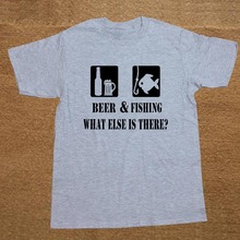 BEER & FISHING: What else is there? men's t-shirt