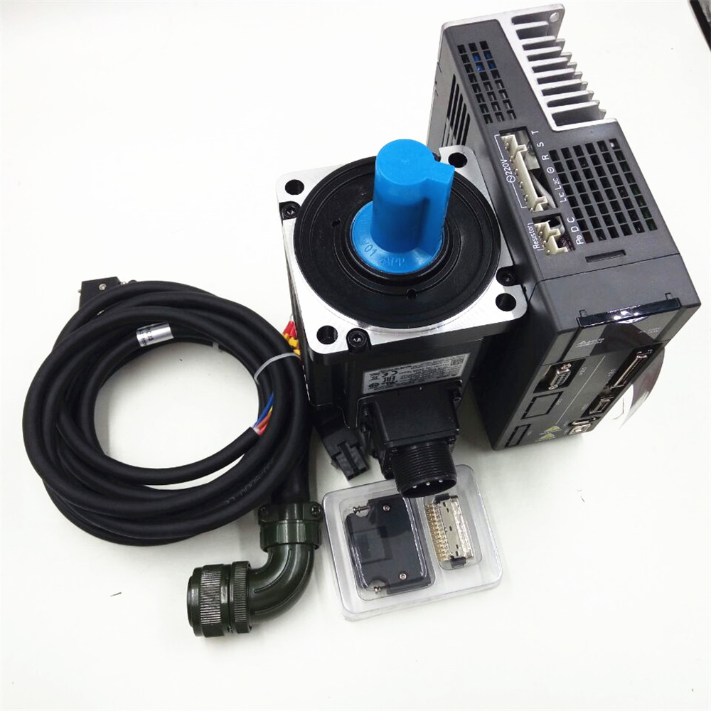 Delta CNC AC Servo Motor Drive Controller kit 220v 1KW 3.18NM 7.3A 100mm ECMA-C11010RS+ASD-A2-1021-L with 3M Cable