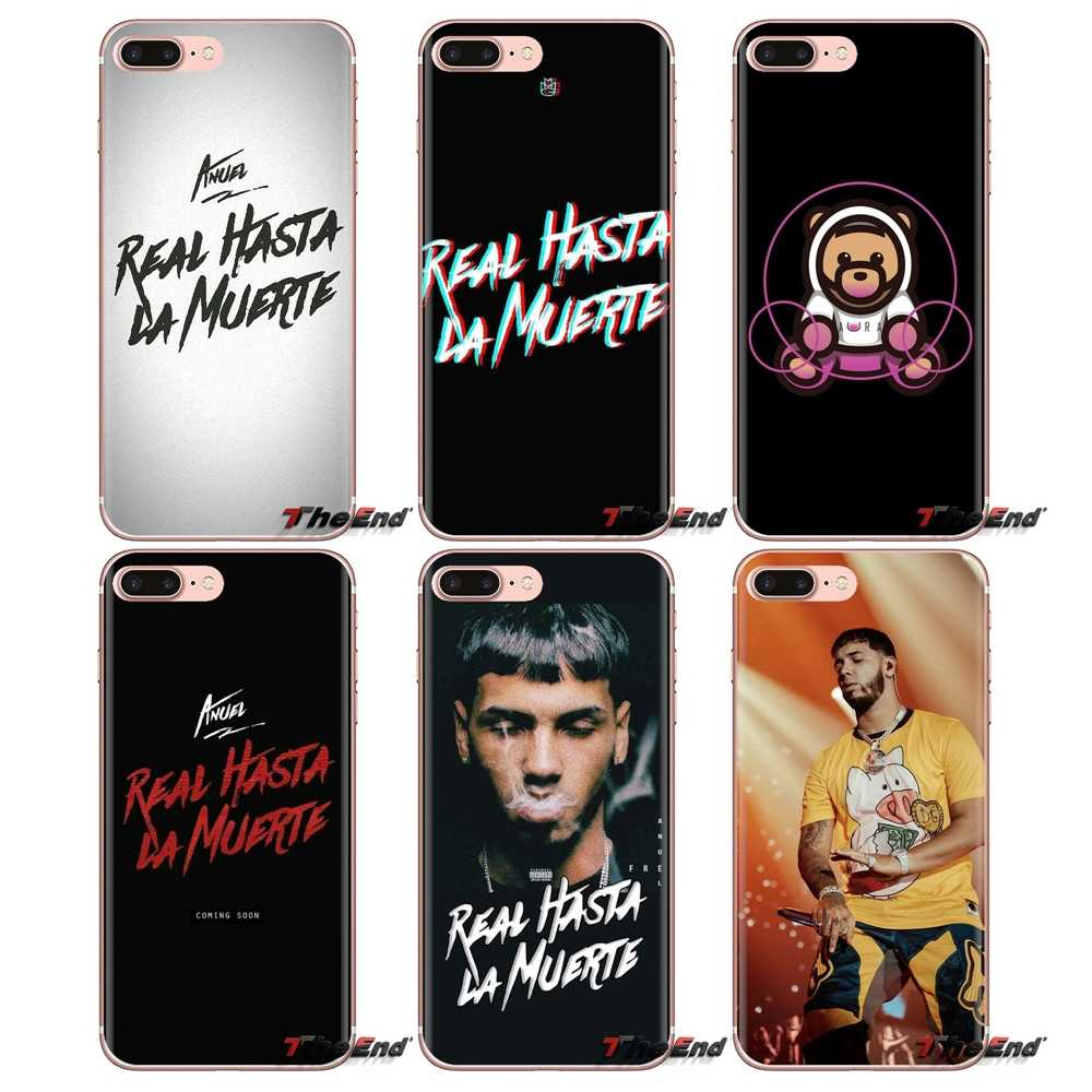 Transparente fundas de carcasa blanda Anuel Aa Ozuna para iPod Touch Apple iPhone 4 4S 5 5S SE 5C 6 6S 7 7 8 X XR XS Plus.