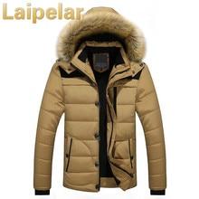Winter Jacket Men 2018 New Parka Coat Men Down Keep Warm Fashion Jacket Laipelar Winter Cotton Coat Faux Fur Hooded Plus Size цена 2017