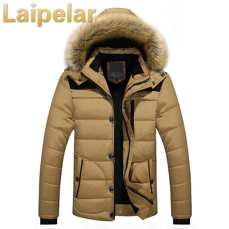 Winter Jacket Men 2018 New   Parka   Coat Men Down Keep Warm Fashion Jacket Laipelar Winter Cotton Coat Faux Fur Hooded Plus Size