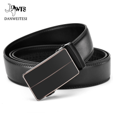 [DWTS]Belt Male Genuine Leather Strap Belts For Men High Quality Autom