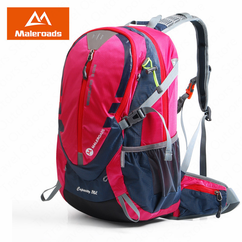 <font><b>Maleroads</b></font> <font><b>30L</b></font> Outdoor Hiking Backpacks Camping Bag Cycling Backpack Breatahble Hiking Bag Waterproof Ultralight Travel Bags image
