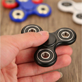 White/Black/Red/Blue Tri-Spinner Fidget Toy Plastic EDC Ceramic bearings Spinner Hand For Autism and ADHD