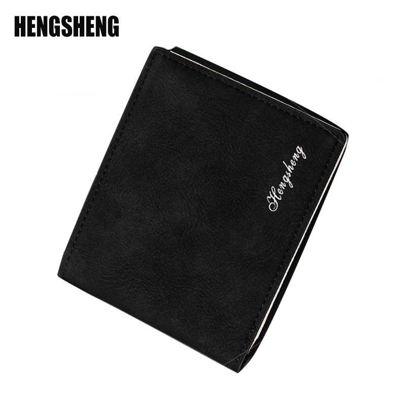 HENGSHENG Men Wallets short wallet Frosted Retro Mens Purse Fashion Business Purse Multi-Card Bit And Multi-Purpose Use Q3125