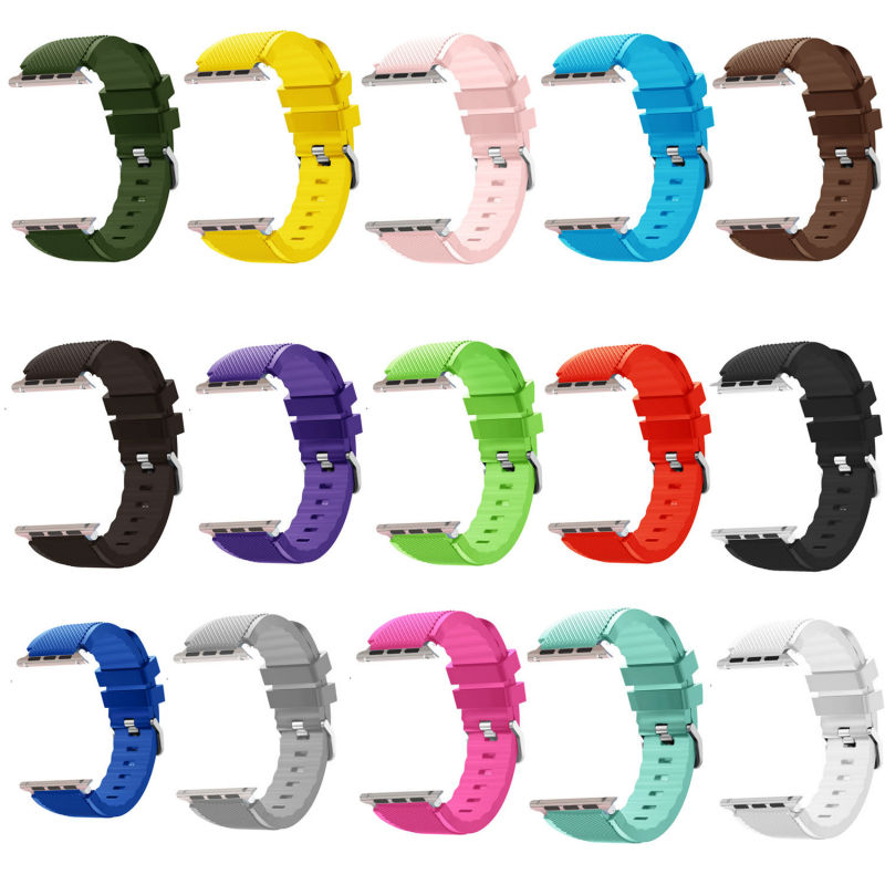 Sports Sweat Proof Wrist Strap Silicone for Apple Watch Band for iWatch Series 3/2/1 Wristband Bracelet 42mm 38mm heather grey elastic waist jersey pencil skirt