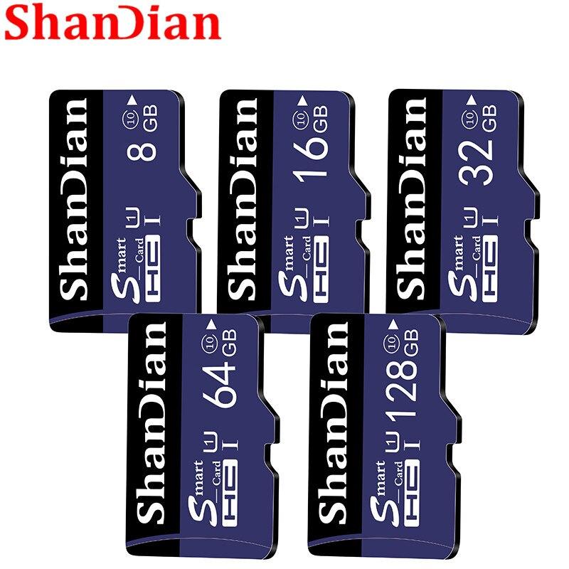 ShanDian new micro sd card 32GB 64GB 128GB TF card 16GB 8GB TF Memory card External disk For Smart Phone Camera