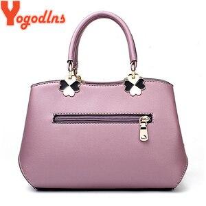 Image 4 - Yogodlns 2020 Fashion Handbags Women Messenger Bag Female PU Leather Shoulder Bag Womens Embroidery Flower Handbag sac a main