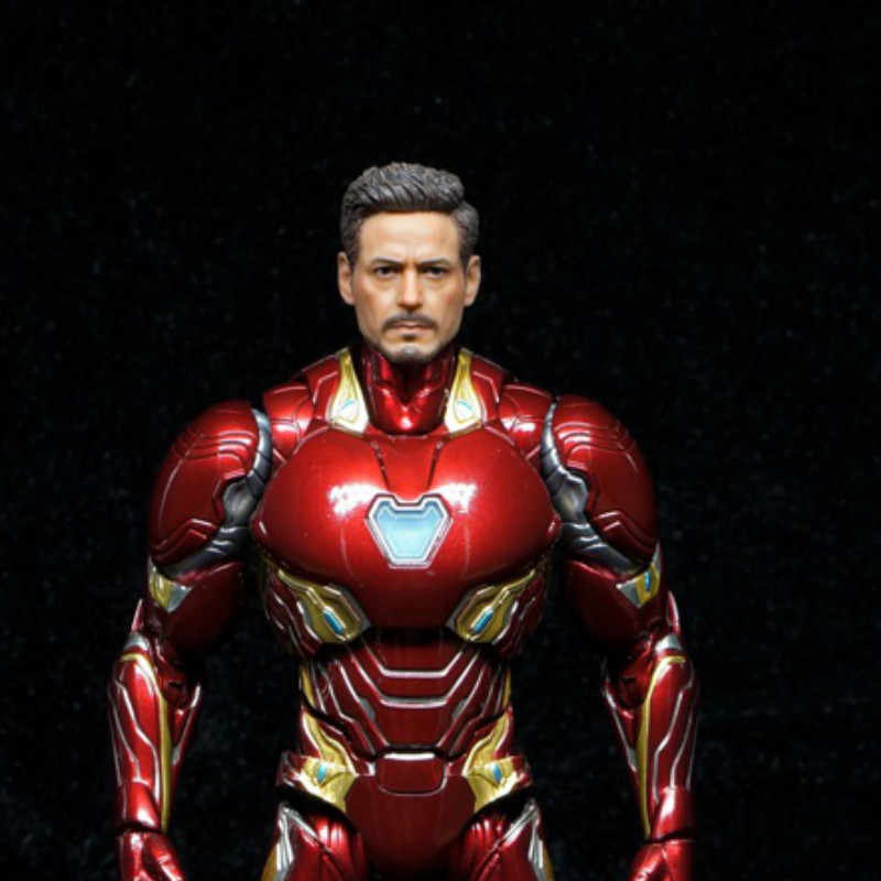 "1//6 Avengers Iron Man Tony Stark Head Sculpt Model F 12/"" Male Action Figure Toys"