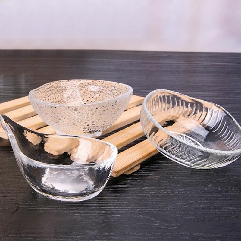 Putih Transparan Makanan Penutup Mangkuk Kaca Mangkuk Dapur