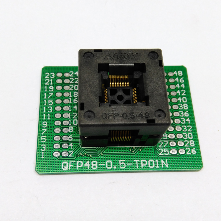 QFP48 TQFP48 LQFP48 Open top Programming socket Pitch 0 5mm FPQ 48 0 5 06 Test Socket Flash Adapter Size 7 7mm in Connectors from Lights Lighting