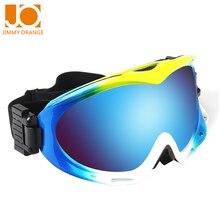Jimmy Orange UV protection impact resistance radiation prevent fogging mask sports Safety glasses men women snow goggles H017