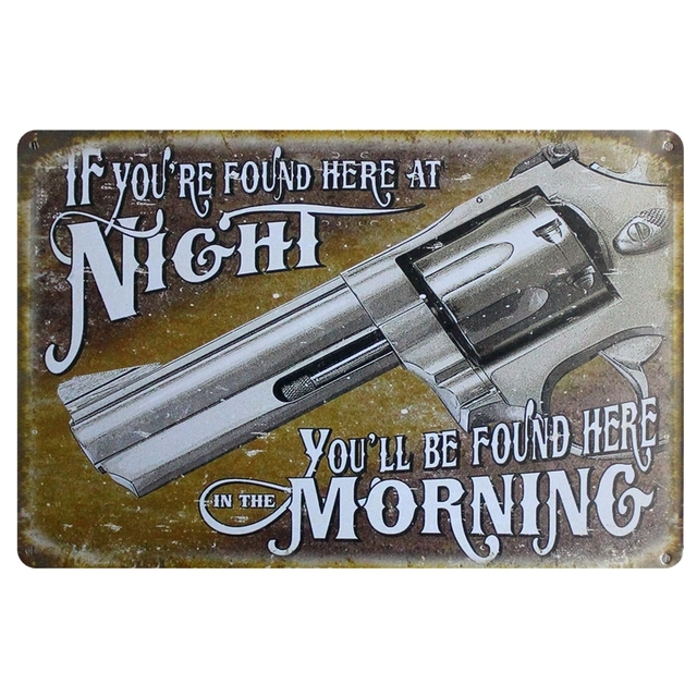 kelly66 gun metal posters bar home wall signs craft 20 30 cm size