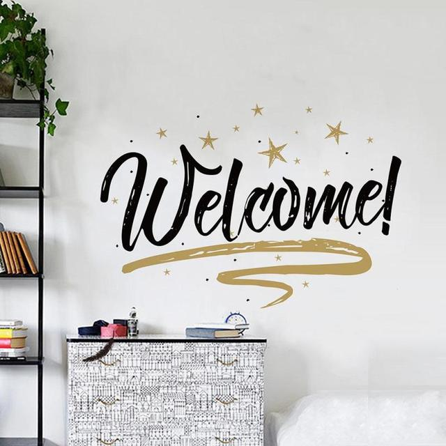 Cafe vinyl wall decal coffee cups coffee welcome words for Mural lettering