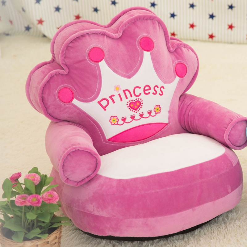 Baby Plush Chair And Seat Princess Pink Kids Beanbag Chair Cartoon Kawaii  Cute .