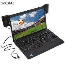 Scomas Портативный Mini USB стерео Динамик Саундбар ClipOn Колонки для Тетрадь ноутбук телефон музыкальный плеер Компьютер PC с клипсой