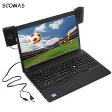 Scomas portátil mini orador estéreo usb soundbar clipon alto falantes para computador portátil portátil leitor de música do telefone com clipe