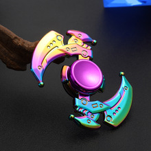 Fidget Zinc Alloy Hand Spinner EDC Fidget Hand Spinners Autism ADHD Kids Gifts Finger Toys Spinners Focus Relieves Stress Adhd E three blade alloy abs fidget spinner