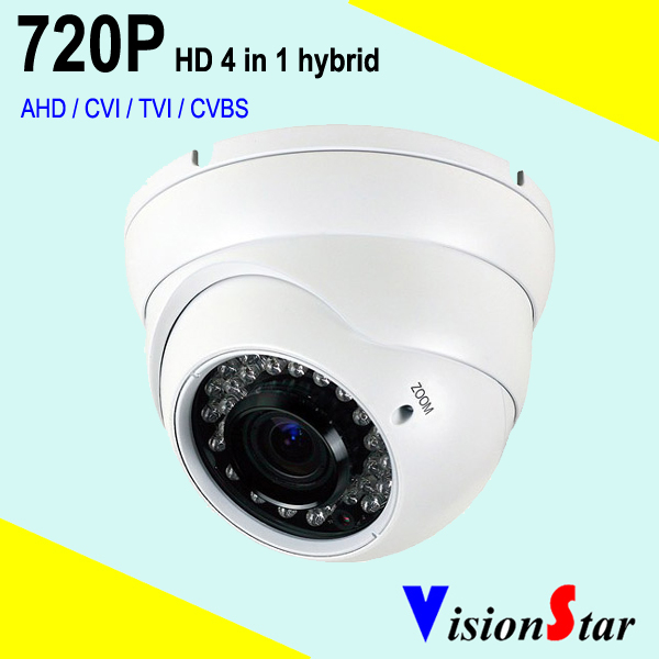 Varifocal lens 2.8-12mm Outdoor Dome Security Camera 720P HD hybrid 4 in 1 with OSD Menu