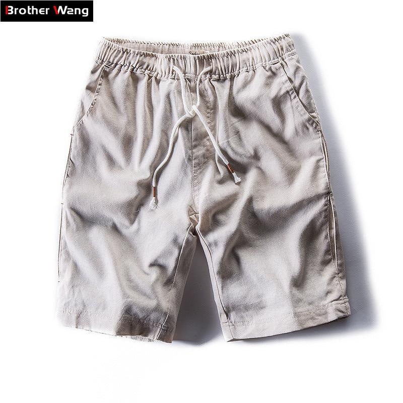 Casual Shorts Bermuda Linen Men's Cotton Fashion Summer Brand New Male 1737 Loose