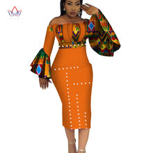 fa7fabeeb48 2019 Summer Dashiki Party Hot Vestidos for Women Cotton Print Traditional  African Clothing 5xl nature dress