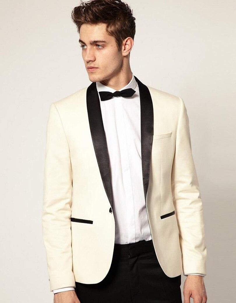 c214519fe246 Latest Design Mens Dinner Party Prom Suits Groom Tuxedos Groomsmen Wedding  Blazer Suits (Jacket+Pants+Bow Tie) K:1321