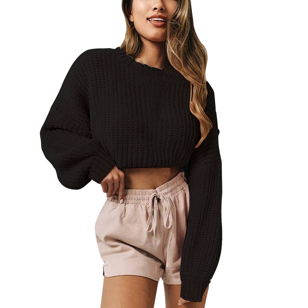 Women's sweater with bare shoulders sweater knit sweater long-sleeved sweater women's oversized sweater plus size