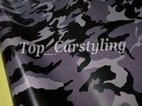 Серый черный Jumbo Camo винил автомобиля Обёрточная бумага камуфляж фильм покрытие с воздушных пузырьков Обёрточная бумага кожи sgin graphics 1,52x10 м/20