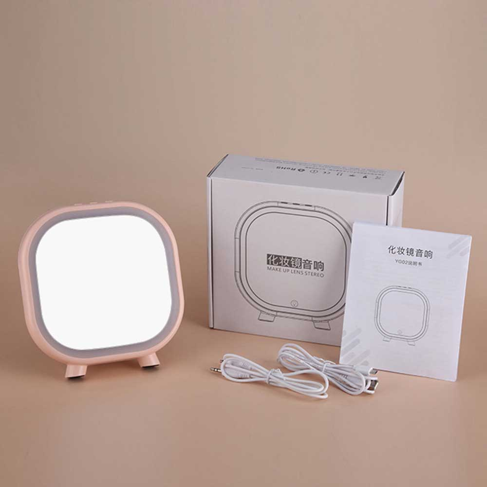 Portable Wireless Speaker Vanity Makeup Mirror With LED Lights And  Bluetooth Speaker USB Charging TF Card Playback AUX Playback-in Portable  Speakers From