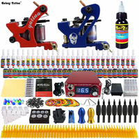 Taty 2 Pro Handmade Coil Machine Guns Tattoo Kits Complete Set Power Supply Foot Pedal Grip